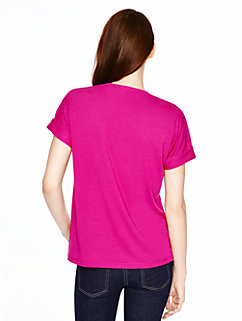 draped cotton jersey tee by kate spade new york