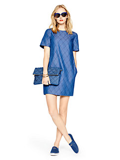 quilted chambray shift dress by kate spade new york