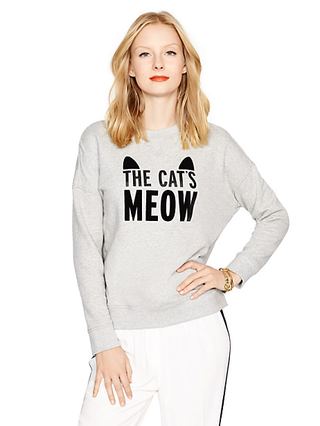 kate spade - the cat's meow sweatshirt