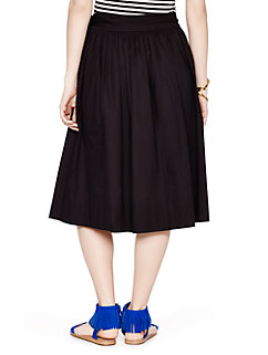 tie waist poplin skirt by kate spade new york