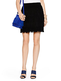 fringe suede skirt by kate spade new york