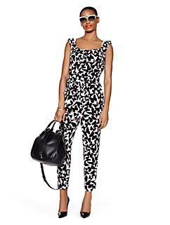 butterfly crepe jumpsuit by kate spade new york