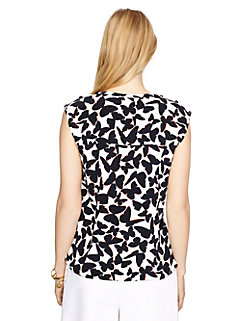 butterfly cap sleeve top by kate spade new york
