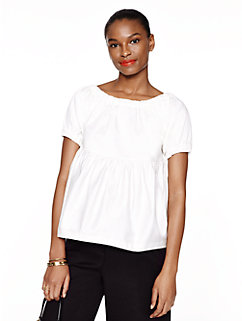 cotton sateen tiered top by kate spade new york