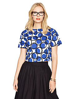 stamped dots crop top by kate spade new york