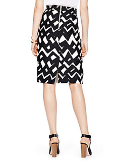 madison ave. collection chevron marit skirt by kate spade new york