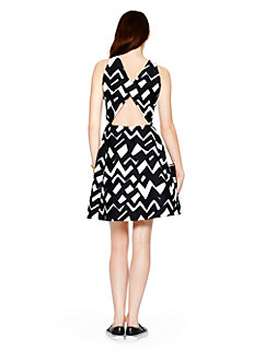 madison ave. collection chevron alani dress by kate spade new york