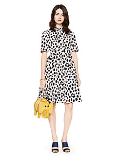 madison ave. collection wild dots aria dress by kate spade new york