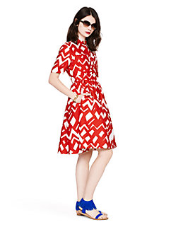 madison ave. collection chevron aria dress by kate spade new york