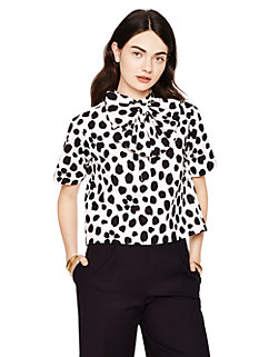 madison ave. collection wild dots keely top by kate spade new york