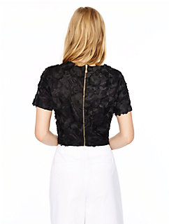 madison ave. colle ction embroidered lummi top by kate spade new york