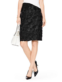 madison ave. collection embroidered marit skirt by kate spade new york