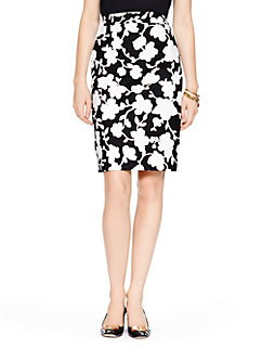 graphic floral marit skirt by kate spade new york