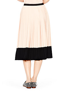 pleated crepe skirt by kate spade new york