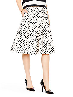 leopard dot poplin skirt by kate spade new york