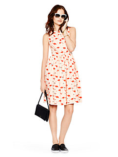 flamingo fit and flare dress by kate spade new york