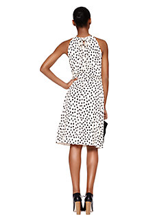 leopard dot tie back dress by kate spade new york