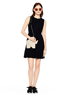 pleated crepe dress by kate spade new york