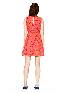 leopard dot pleated dress by kate spade new york