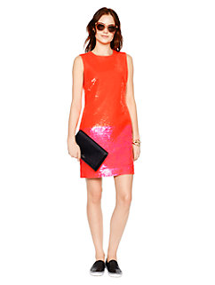 colorblock sequin shift dress by kate spade new york