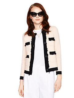 fringe pocket cardigan by kate spade new york