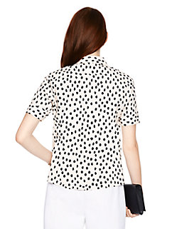 leopard dot short sleeve shirt by kate spade new york