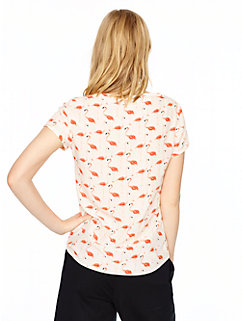 flamingo boatneck top by kate spade new york