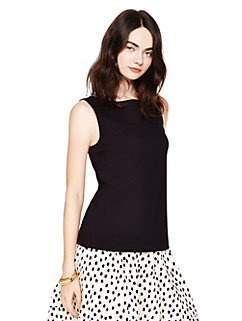 bow back ponte top by kate spade new york