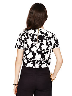 graphic floral crop top by kate spade new york