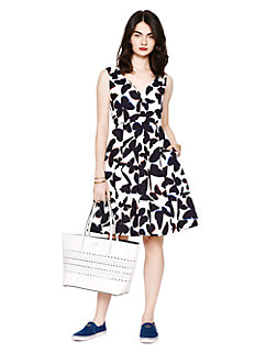 butterfly fit and flare dress by kate spade new york