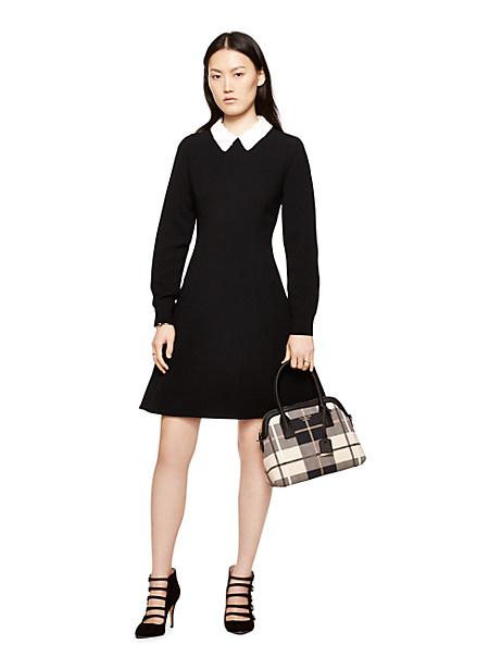 Kate Spade Sequin Collar Crepe Dress, Black - Size 12