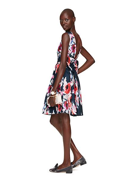 Kate Spade Hazy Floral Bow Back Dress, Hazy Floral - Size 14