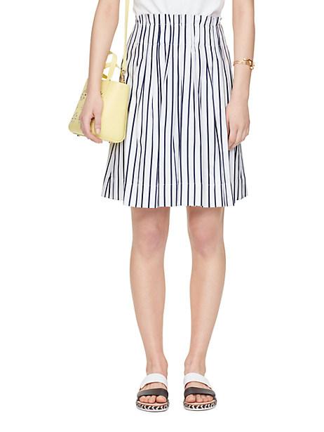 Kate Spade Stripe Cotton Skirt, Ink - Size 6