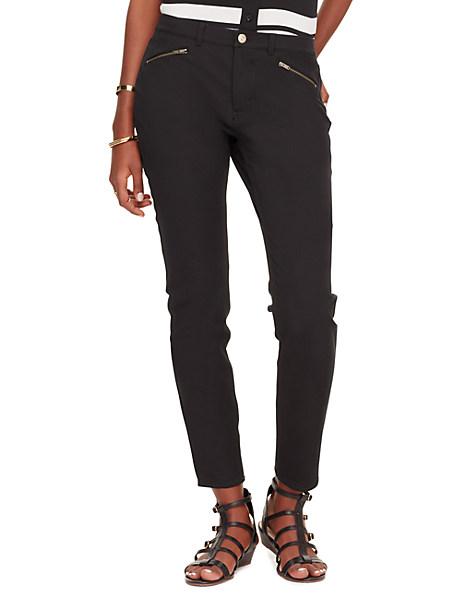 Kate Spade Zip Pocket Cigarette Pant, Black - Size 24