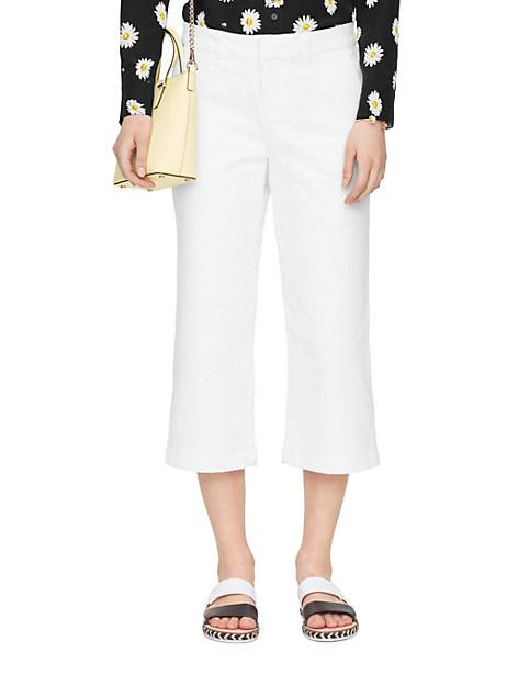 Kate Spade Denim Culotte, Fresh White - Size 23