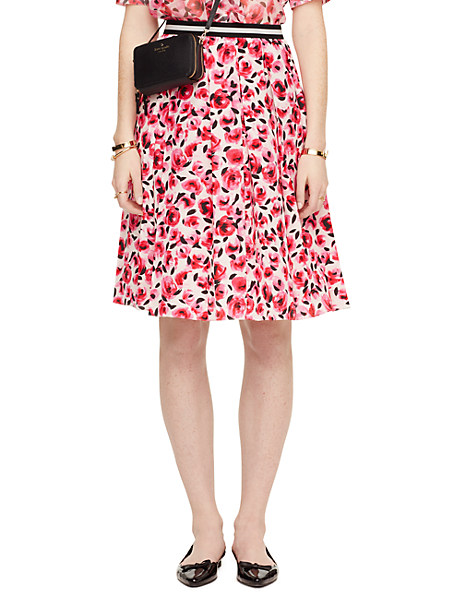 Kate Spade Mini Rose Pleated Skirt, Cream - Size 00
