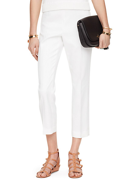 Kate Spade Cobie Cigarette Pant, Fresh White - Size 14