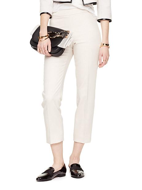 Kate Spade Cobie Cigarette Pant, Custom Light Beige - Size 14