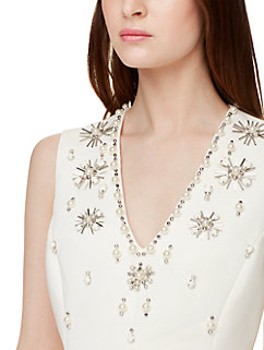 embellished structured dress by kate spade new york