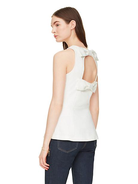 Kate Spade Ponte Open Back Top, Cream - Size 12