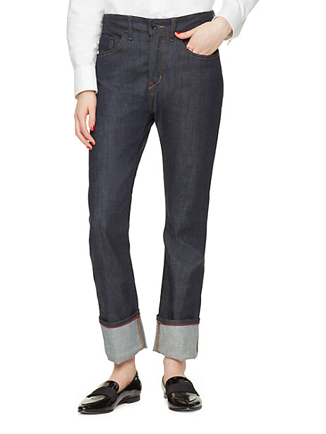 Raleigh Denim X Kate Spade New York Dare Jean, Raw Selvage Denim - Size 23