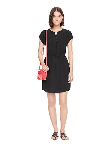 Kate Spade Pintuck Silk Dress, Black - Size M