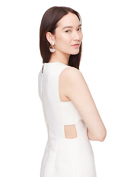Kate Spade Cutout A-line Dress, Cream - Size 0