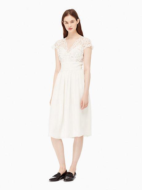 Kate Spade Macrame Lace Dress, Cream - Size 0