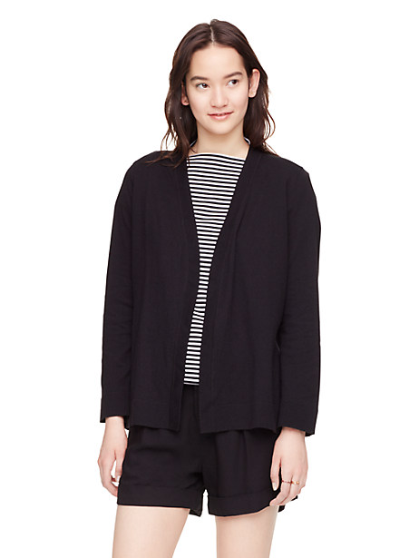 Kate Spade Open Cardigan, Black - Size S