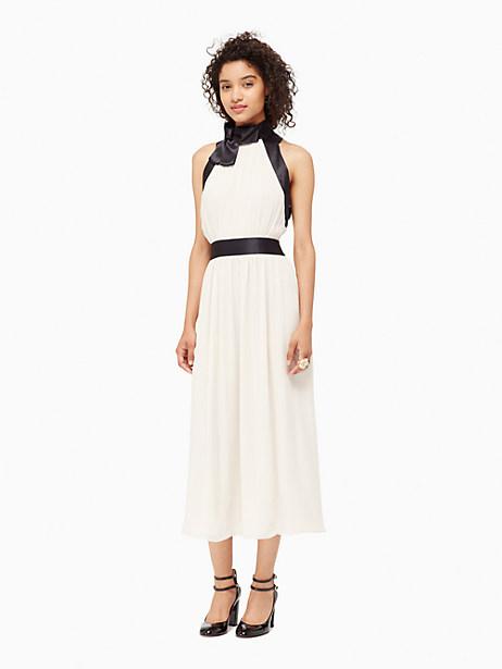 Kate Spade Chiffon Bow Dress, Light Shale - Size 12