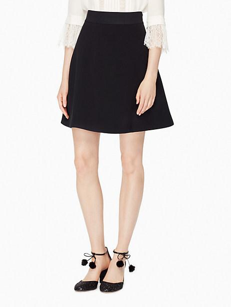 Kate Spade Crepe Flip Skirt, Black - Size 10