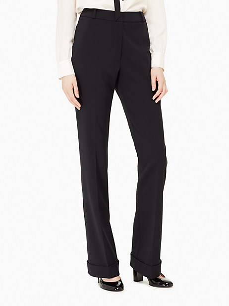 Kate Spade High Waisted Trouser, Black - Size 0