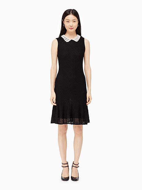 Kate Spade Lace Stitch Dress, Black - Size XL