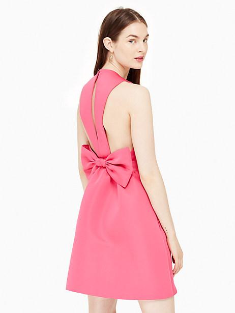Kate Spade Satin Faille Bow Back Dress, Cabaret Pink - Size 10